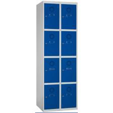 Taquilla metálica 8 puertas 2 columnas