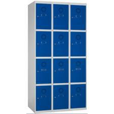 Taquilla metálica 12 puertas 3 columnas