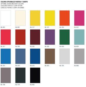 Colores opcionales