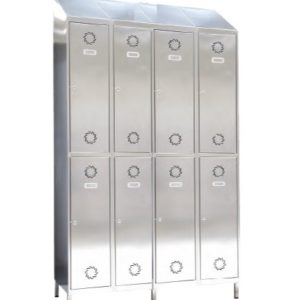 taquilla acero inoxidable 8 puertas 4 columnas