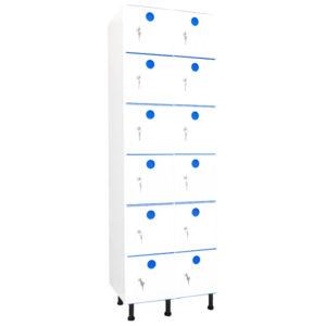 taquillas de plástico 12 puertas 2 columnas