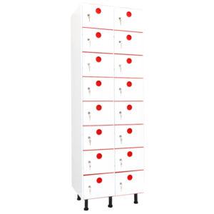 taquillas de plástico 16 puertas 2 columnas