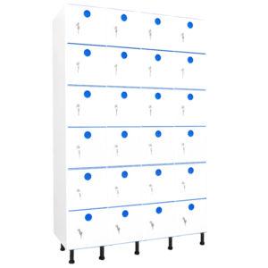 taquillas de plástico 24 puertas 4 columnas
