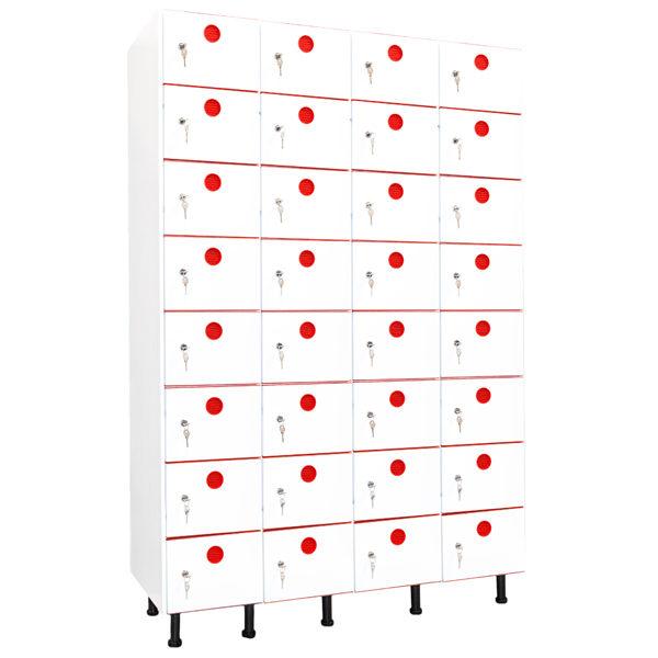 taquillas de plástico 32 puertas 4 columnas